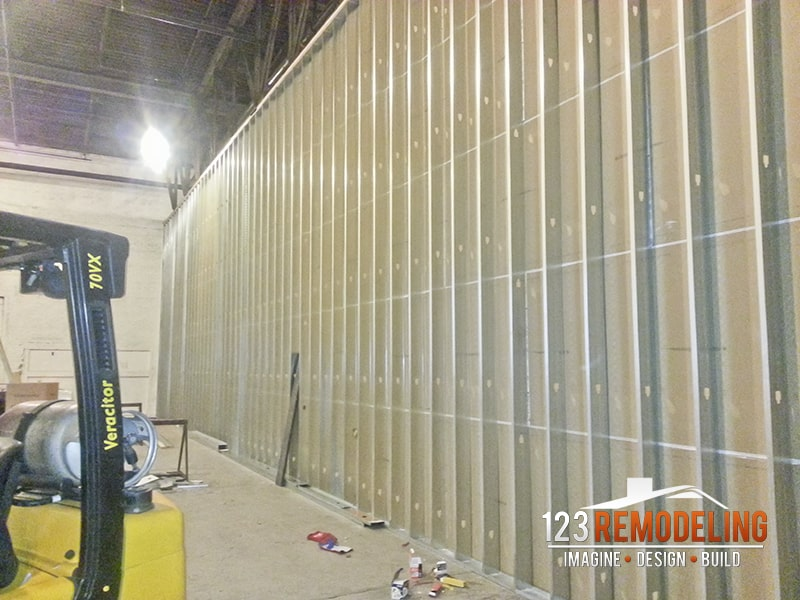 warehouse wall build
