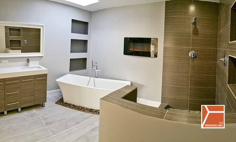 Skokie Bathroom Gut Rehab