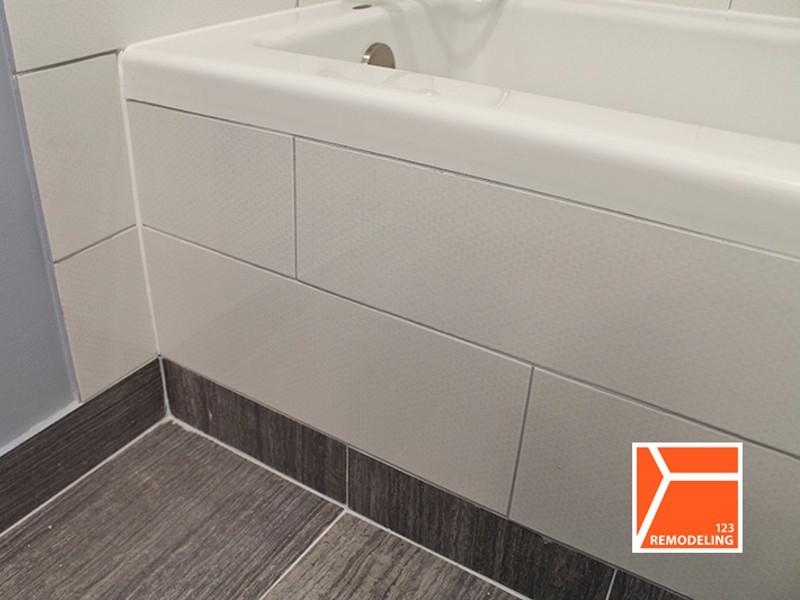 Edgewater Condo Bathroom Bathtub Tile Detail