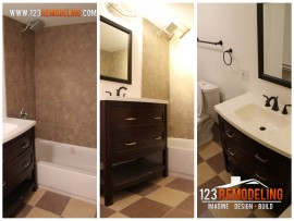 Roscoe Village Budget Bathroom Remodel