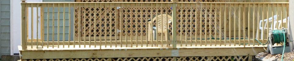 Decking Materials - Pressure Treated Wood