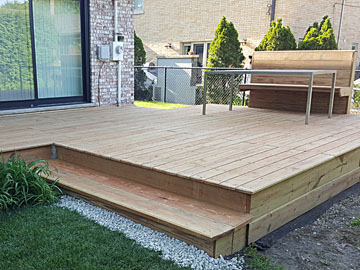 Lincolnwood Wooden Deck Installation