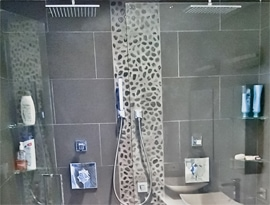 Lincoln Park Condo Bathroom Shower