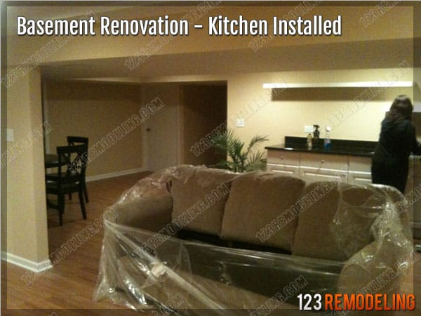 Completed Basement in Lincolnwood IL