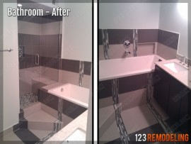 Condo Bathroom Remodel - 901 W Madison St, Chicago, IL (West Loop)