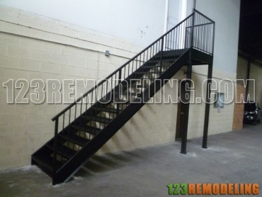 Commercial Steel Staircase Construction