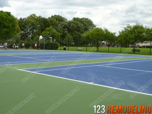 Evanston Tennis Court Resurfacing