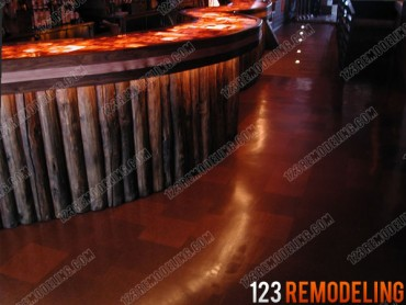 Commercial construction 123 remodeling for Commercial bar flooring