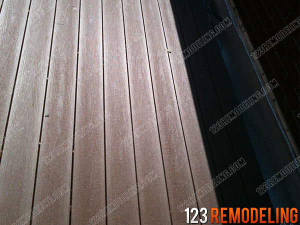 PVC composite rooftop deck replacement