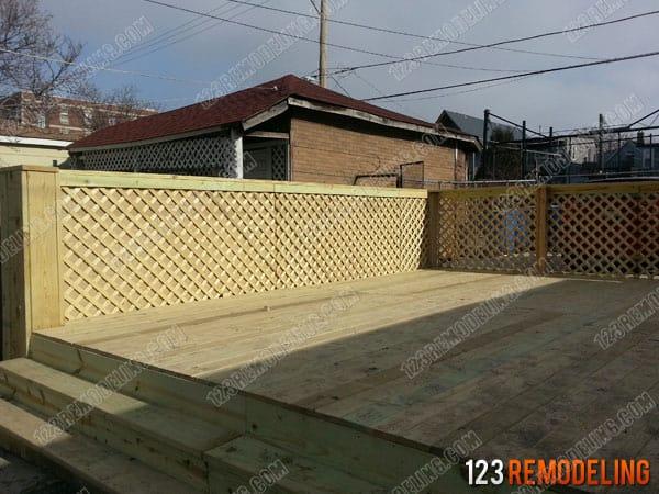 Wrigleyville Deck Construction