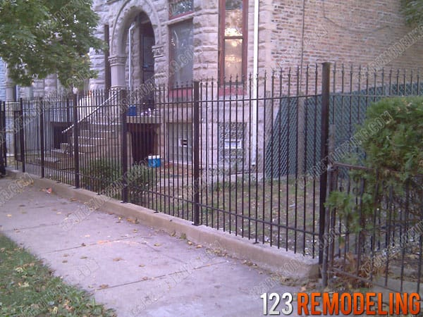 Wrought Iron Fence Installation - Lakeview Chicago