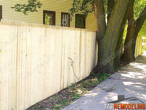 Lincoln Park Wood Privacy Fence