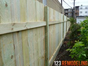 Logan Square Wood Fence Installation
