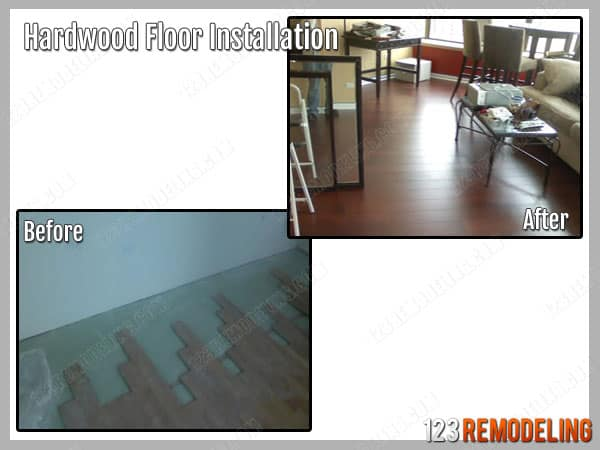 Hardwood Floor Installation River North Chicago