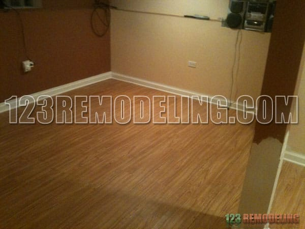 Park Ridge Basement Hardwood Flooring