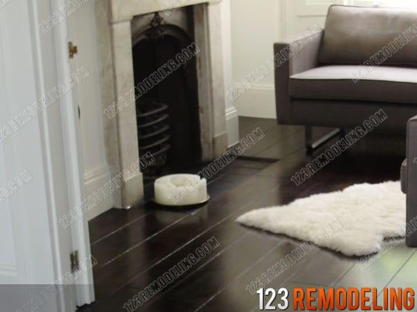 Dark Finish Hardwood Floor Installation