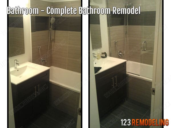 Complete Highrise Bathroom Remodeling