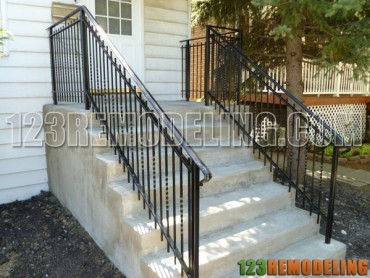 Concrete Staircase Case & Porch Construction