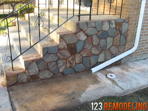 Harwood Heights Concrete Stair Case