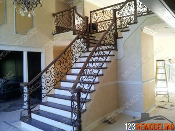 Wrought Iron Staircase Glenview