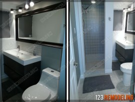 Modern Bathroom Remodel – Skokie, IL