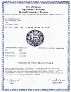 2013-2014 General Contractor License