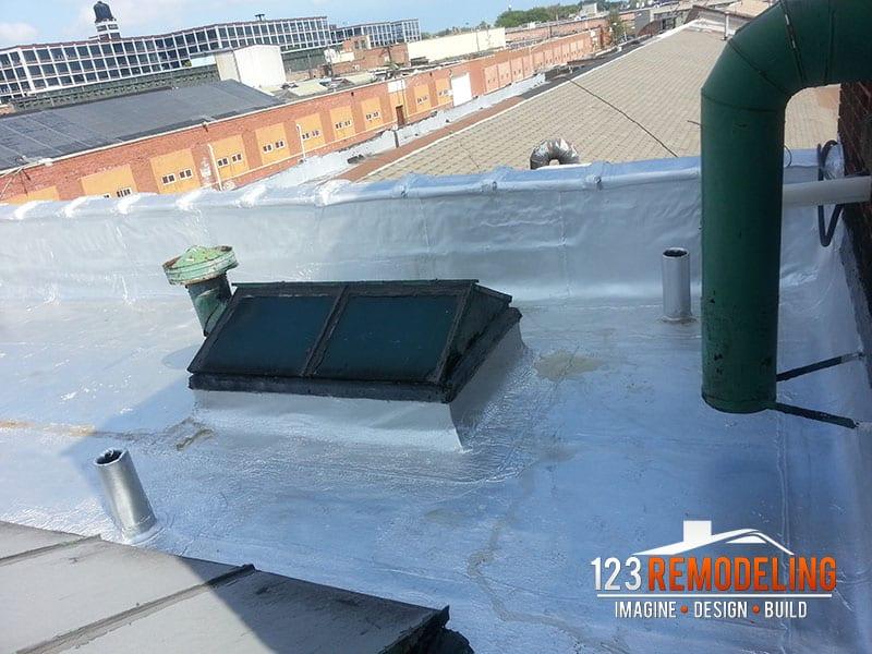 warehouse roof renovation