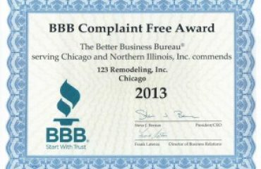 BBB Complaint Free Award 2013