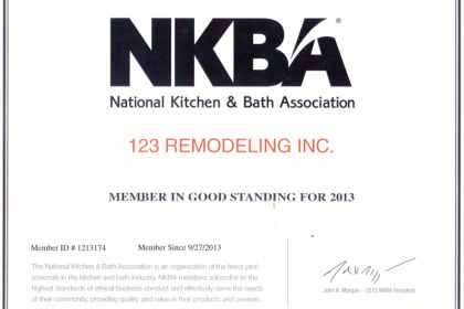 Proud Member of Kitchen & Bath Association