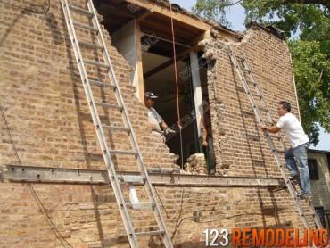 Lincoln Park Brick Wall Repair