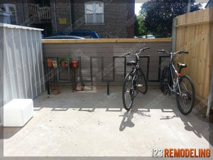 Custom Bike Rack Installed