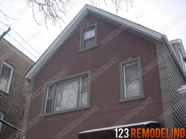 Logan Square Exterior Stucco Installation & Painting