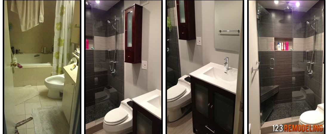 Average bathroom remodel