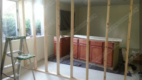 Basement Renovation - Wall Framing