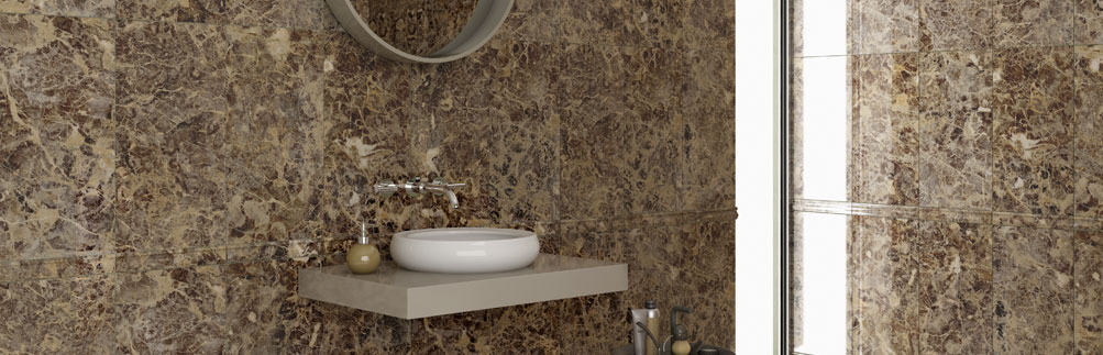 Emperador Collection - Complete bathroom Ceramic and Porcelain tile