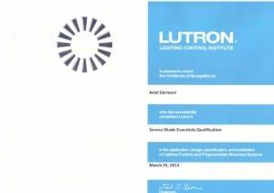 ariel-lutron-certification