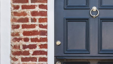Exterior Door on a Red Brick House