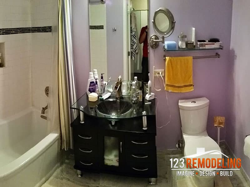 After High-Rise Condo Bathroom Remodel -- 630 N. State St, Chicago, IL (River North)