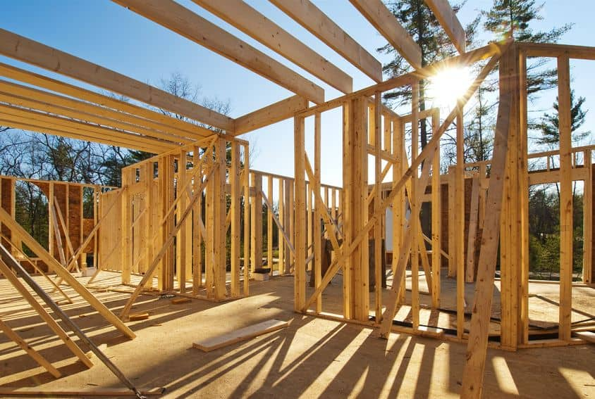 Exterior Construction of House Framing