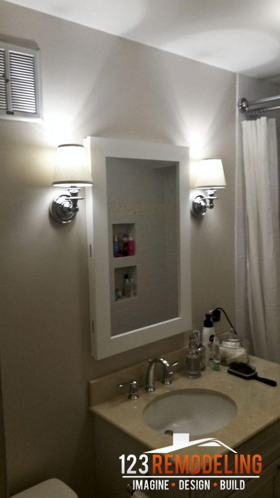 After Contemporary High-Rise Bathroom Remodel - 40 E Cedar St, Chicago, IL (Gold Coast)