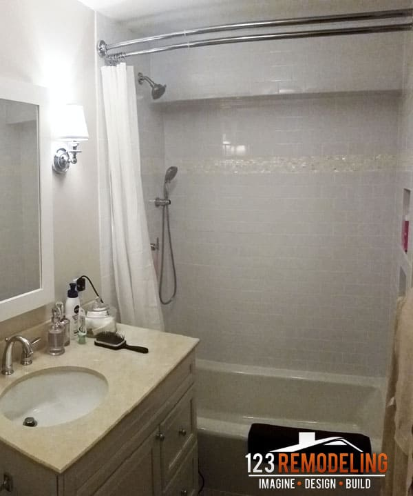 condo bathroom after finished remodeling
