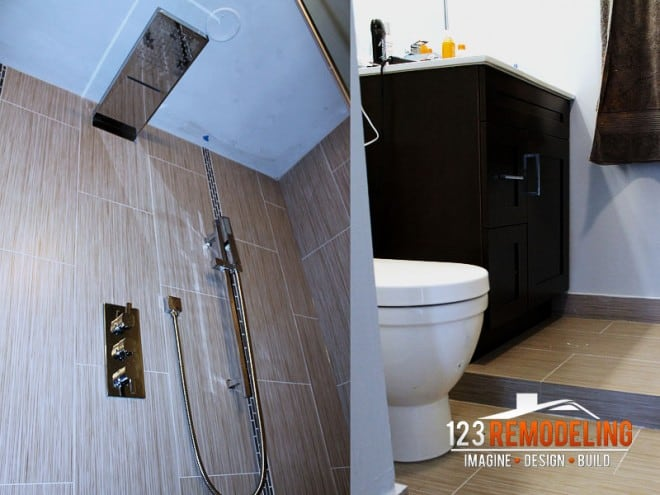 chicago bathroom remodel by 123 remodeling