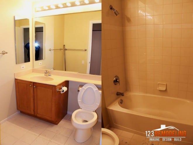 Modern Chicago bathroom remodel river north