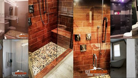 complted bathroom remodels showcase