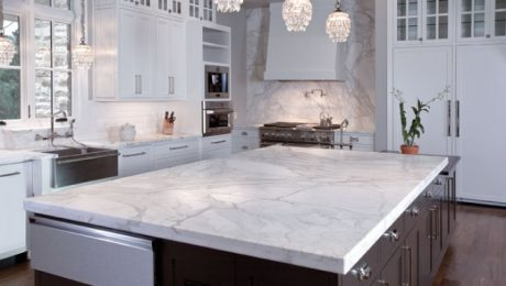 Soapstone Countertop installed in kitchen