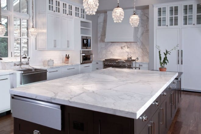 Interior of a freshly remodeled kitchen