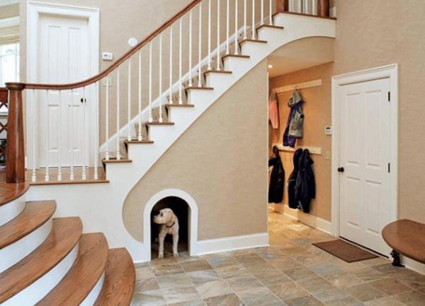 dog house under stairs