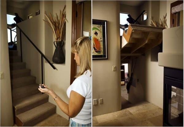 secret stairs room
