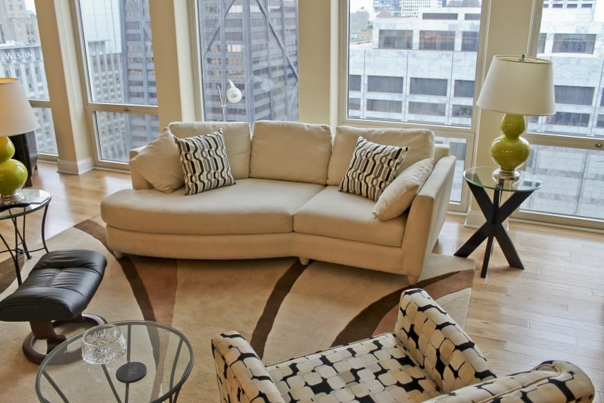 Living Room Renovation at 111 E Chestnut St (Magnificent Mile)