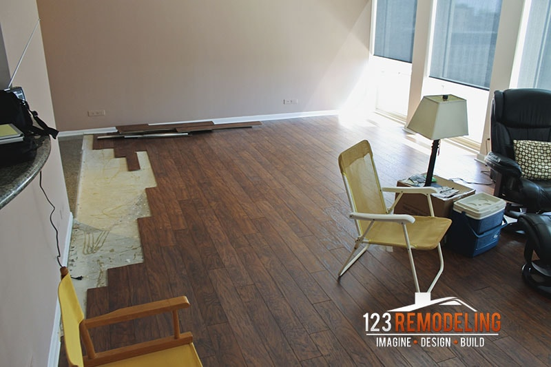 Before Flooring Installation - 111 E Chestnut, Chicago, IL (Magnificent Mile)